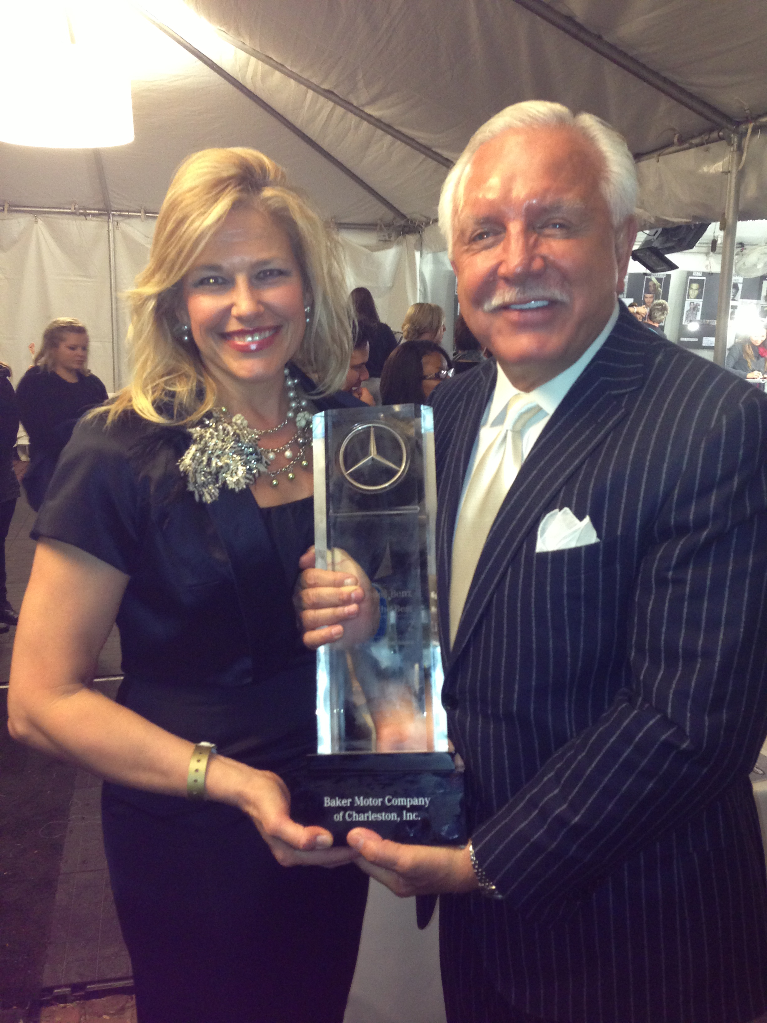 Tommy baker presented with best of the best award at for Baker mercedes benz charleston sc