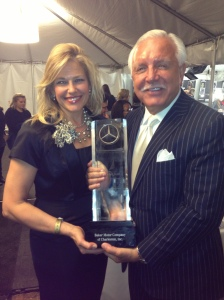 Christine Rabideau, Mercedes-Benz Sales Operations Manager and Baker Motor Company's Tommy Baker