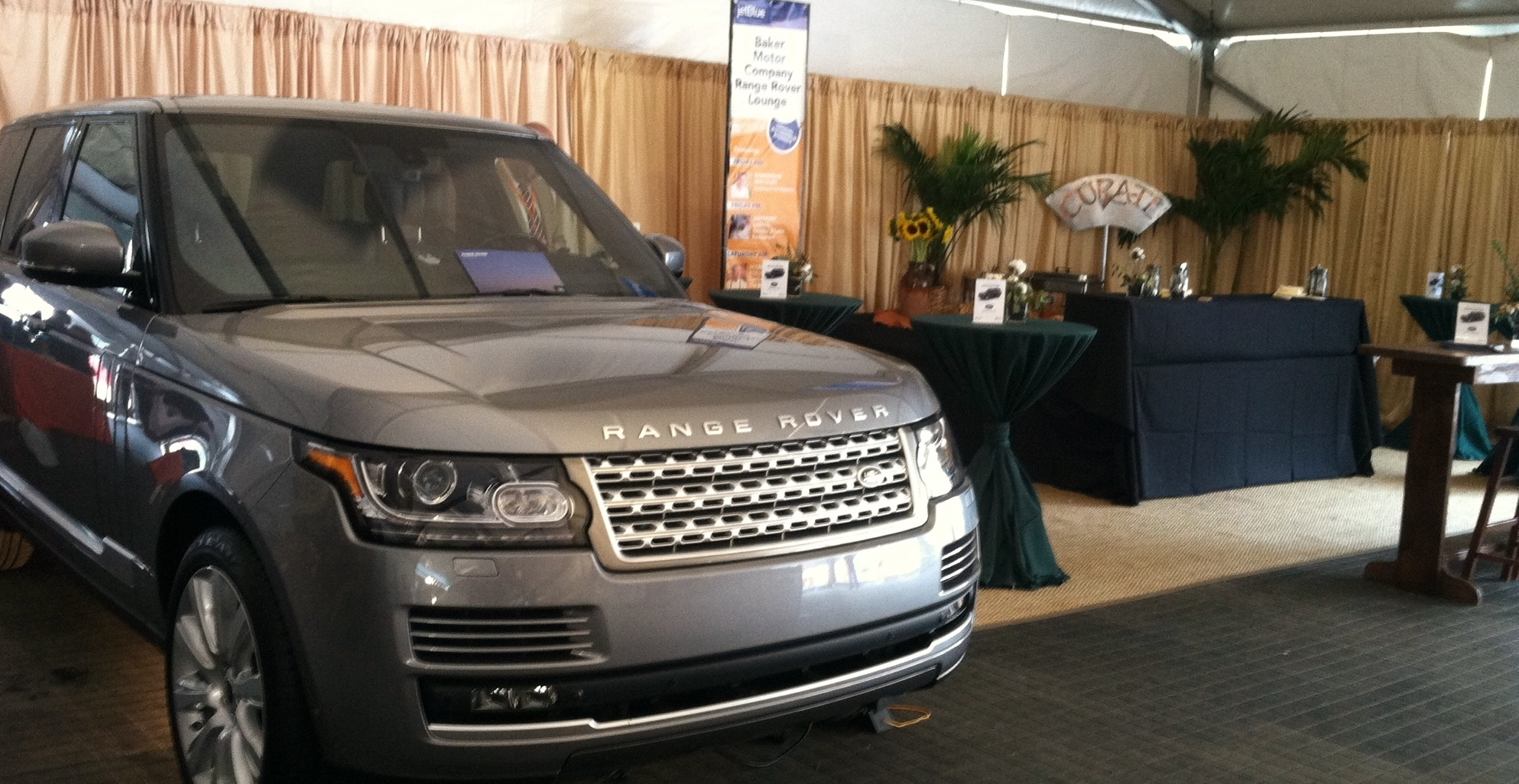 Land rover west ashley range rover lounge at wine food for Baker motor company land rover