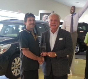 BGC Employee of the Month Gary Hopper with Mr. Tommy Baker