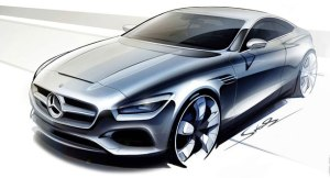 Mercedes S-Class Coupe Concept Sketch