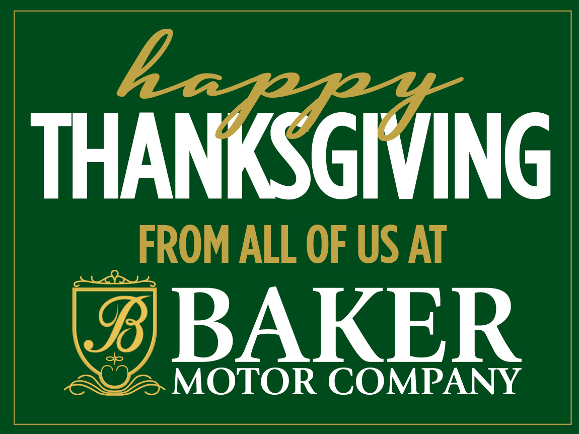 Happy thanksgiving from baker motor company baker motor for Baker motor company land rover