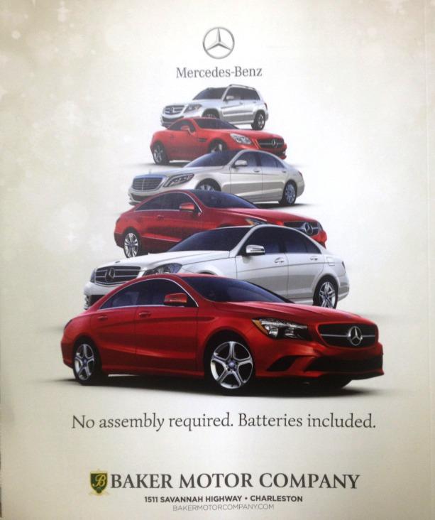Check out baker motor company 39 s holiday advertisement for for Baker motors jaguar charleston sc