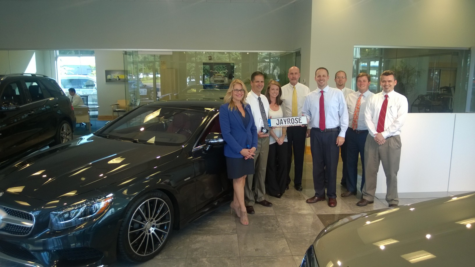 Baker motor company recognizes jay rose as top sales for Baker motor company land rover