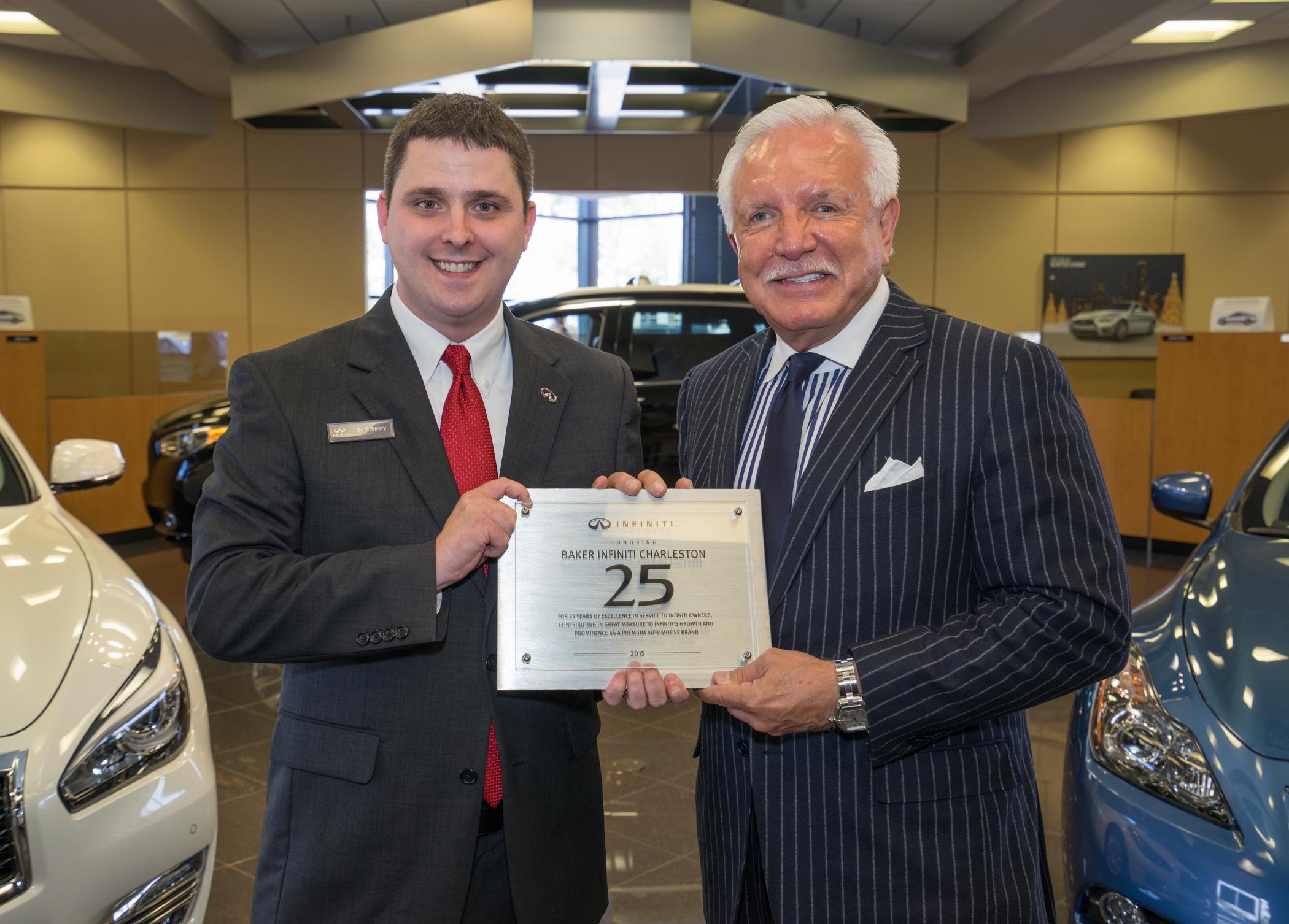 Baker Motor pany Celebrates 25 Years as Infiniti Dealer