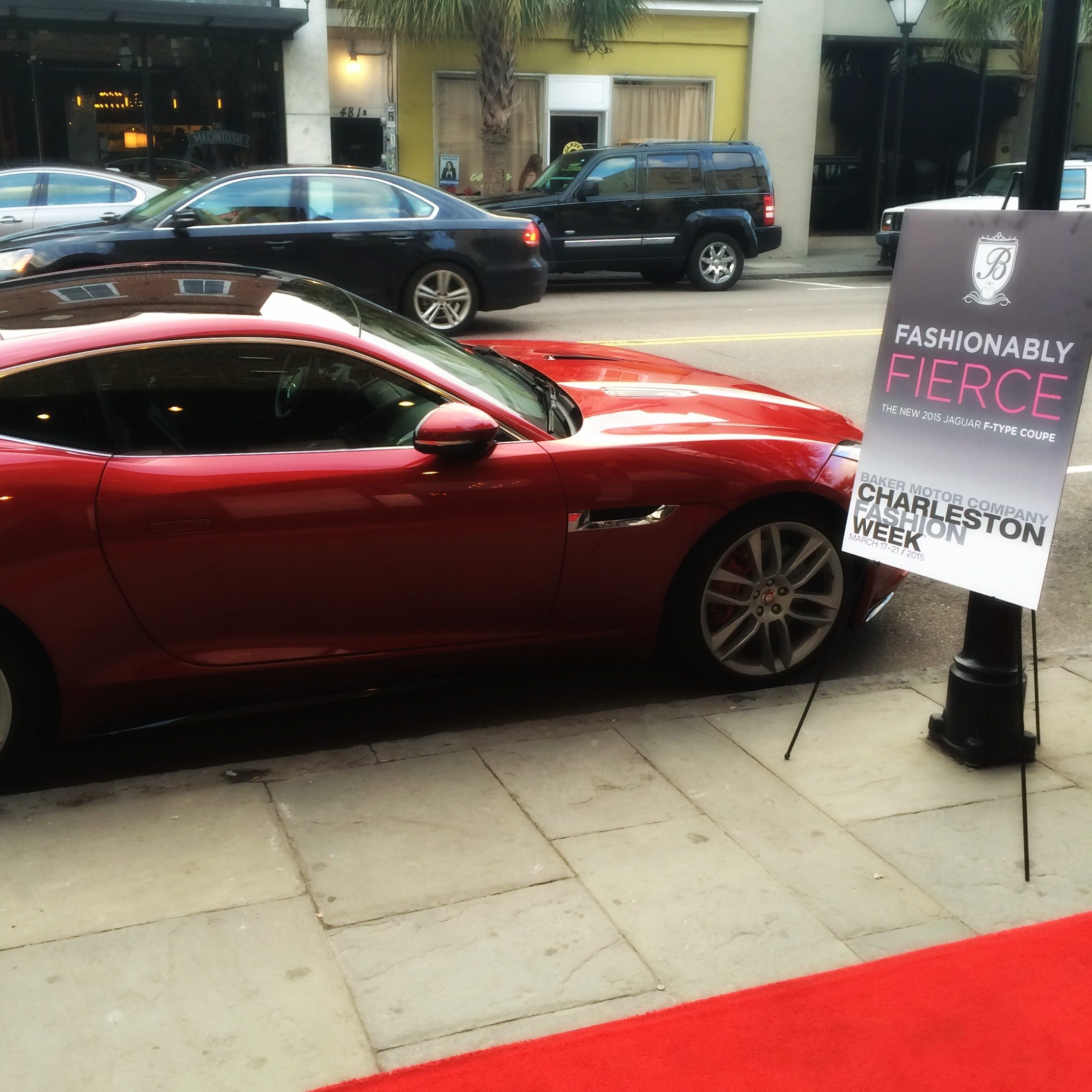 jaguar f type coupe shines at charleston fashion week